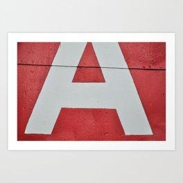 Red A Art Print