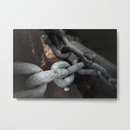 The Chain Metal Print
