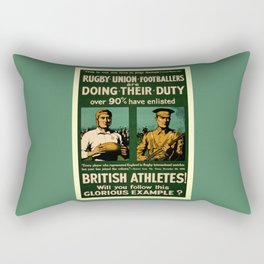 British rugby, football players call for duty Rectangular Pillow