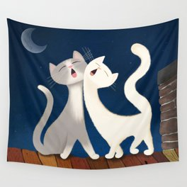 Moonlight Duet Wall Tapestry