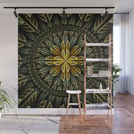 Autumn fantasy flower and petals Wall Mural