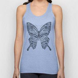Blue Butterfly Mandala Unisex Tank Top