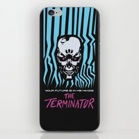 terminator iPhone & iPod Skins featuring The Terminator by Daniel Grushecky
