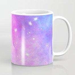 Hand painted pink purple turquoise watercolor nebula space glitter stars Coffee Mug