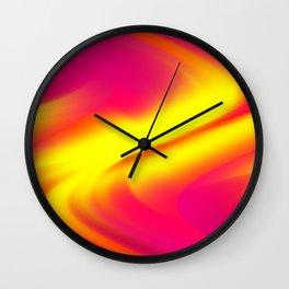 DREAM PATH (Reds, Oranges, Fuchsias, Purples & Yellows) Wall Clock
