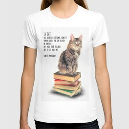 Cat Quote By Ernest Hemingway T-shirt