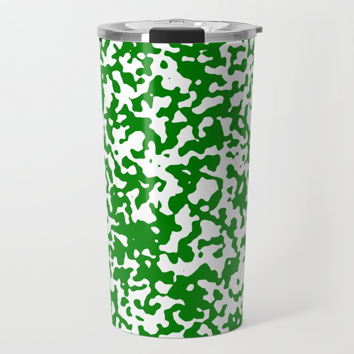Small Spots - White and Green Travel Mug
