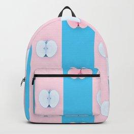 Blue pink apples halves pop art Backpack
