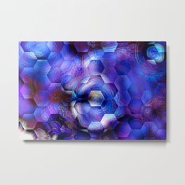 Ultra Violet abstract 1 Metal Print
