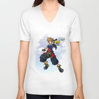 kingdom hearts V-neck T-shirts featuring Kingdom Hearts 2 - Sora by Outer Ring