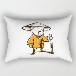 Old monk Rectangular Pillow