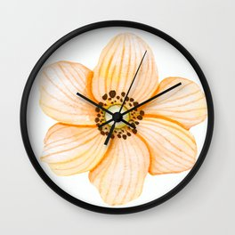 One Orange Flower Wall Clock