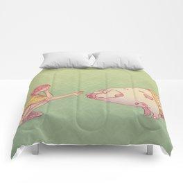 Signe du cochon Comforters