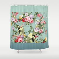 flora Shower Curtains featuring Flora by mentalembellisher
