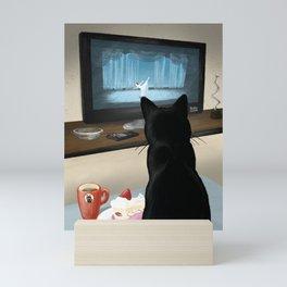 Watching TV Mini Art Print