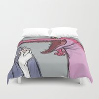 merlin Duvet Covers featuring merlin fan art by Alice-Spicuzza