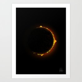 Burger Eclipse Art Print