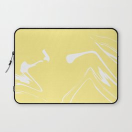 Yellow With White Liquid Paint Laptop Sleeve