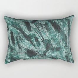 Black Ink and Green Marker Rectangular Pillow