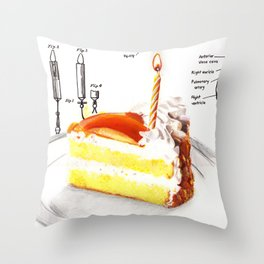 Birthday Cake Throw Pillow