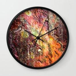 Colorful Nature : Texture Warm Tones Wall Clock