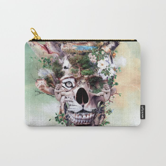 Nature Skull II Carry-All Pouch