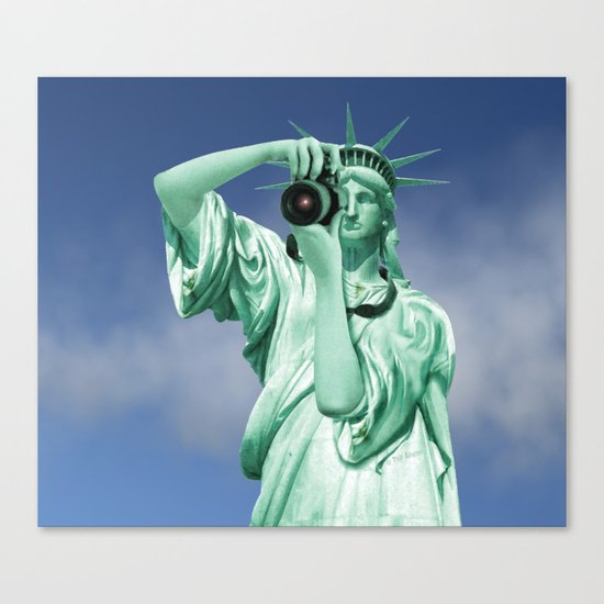 Say cheese for Liberty! Canvas Print