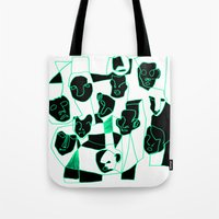 faces Tote Bags featuring Faces by esther walter