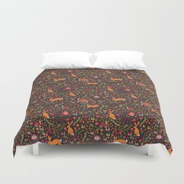 Tortoise and the Hare in Red Duvet Cover