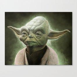 Yoda Caricature Fan Art Canvas Print
