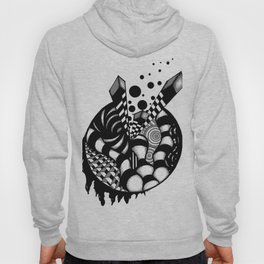 Floating Orb grayscale Hoody