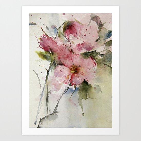 flowers from Arcen Art Print