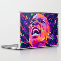 nba Laptop & iPad Skins featuring ERIC BLEDSOE: NBA ILLUSTRATION V2 by mergedvisible