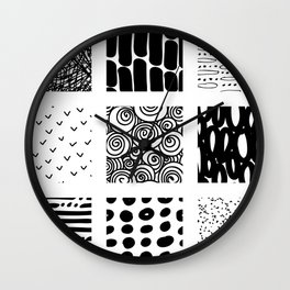 In a doodle rythm Wall Clock
