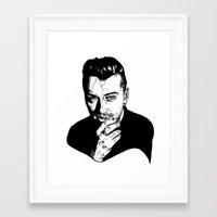 sam smith Framed Art Prints featuring Sam Smith by Giorgia Ruggeri