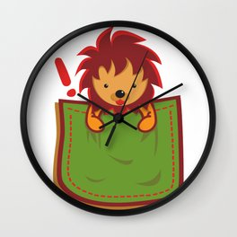 Lion_in_the_Pocket Wall Clock