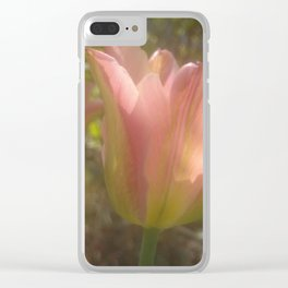 Soft light of spring Clear iPhone Case
