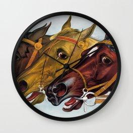 Horse head portraits Wall Clock