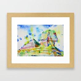 SPHINX and PYRAMID Framed Art Print