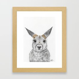 Miss Kanga(roo) Framed Art Print