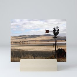 Rural Landscape of Rolling Hills in Australia Mini Art Print