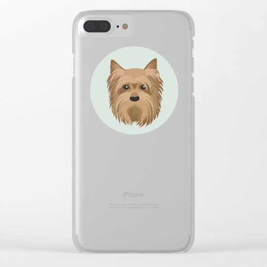 Yorkshire Terrier Pattern Clear iPhone Case