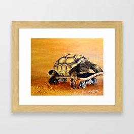 Skateboard Turtle Framed Art Print