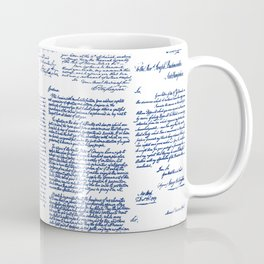 George Washington's Letters // Blue Ink Coffee Mug