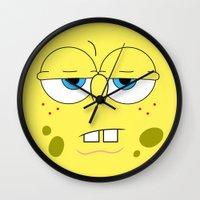 spongebob Wall Clocks featuring SpongeBob by Thorin