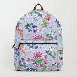 Violets Honeysuckle & Lavender Pattern Backpack
