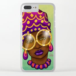 Gold Specs Clear iPhone Case