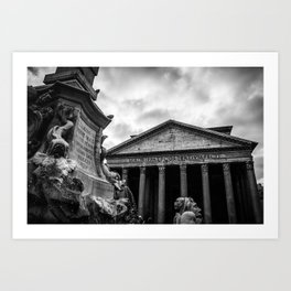 Clouds Over The Pantheon Art Print