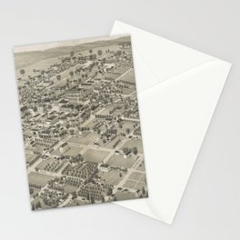 Vintage Pictorial Map of Monticello FL (1885) Stationery Cards
