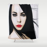 lolita Shower Curtains featuring LOLITA TEENAGER 2008 by Michela Ezekiela Riba